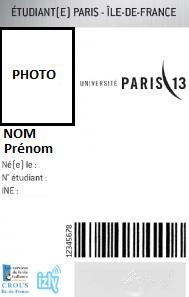 carte etudiant universite paris 13